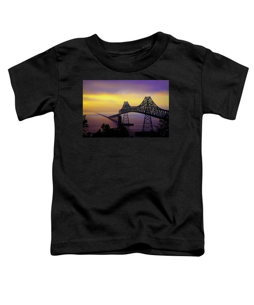 Sun Setting Through The Fog Toddler T-Shirt