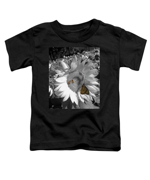 Sunflower In Black And White Toddler T-Shirt