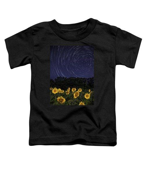 Sunflowers Under The Night Sky Toddler T-Shirt