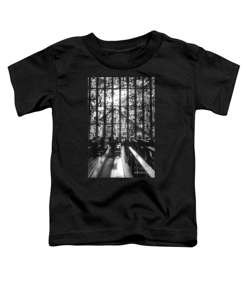 Sunlit Stained Glass At Czestochowa Shrine, Pa Toddler T-Shirt