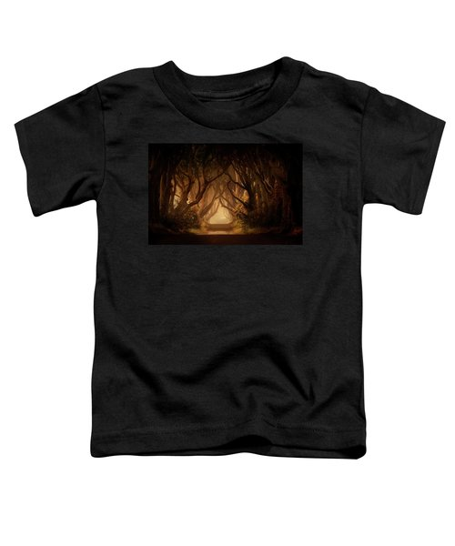 Toddler T-Shirt featuring the photograph Sunny Morning In Dark Hedges by Jaroslaw Blaminsky