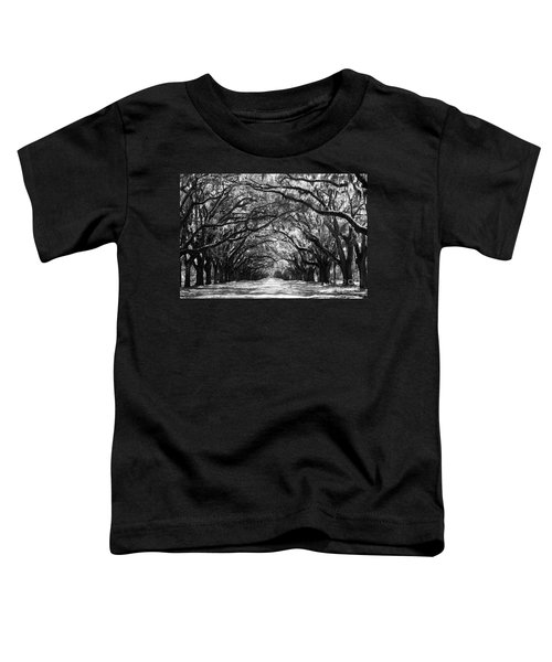 Sunny Southern Day - Black And White Toddler T-Shirt