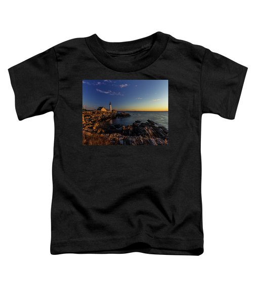 Sunrise At Portland Headlight Toddler T-Shirt