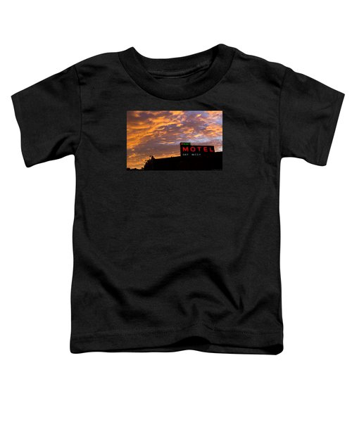 Toddler T-Shirt featuring the photograph Sunrise Enters Capitola by Lora Lee Chapman