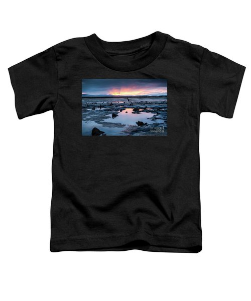 Sunrise Over The Bronze Age Sunken Forest At Borth On The West Wales Coast Uk Toddler T-Shirt