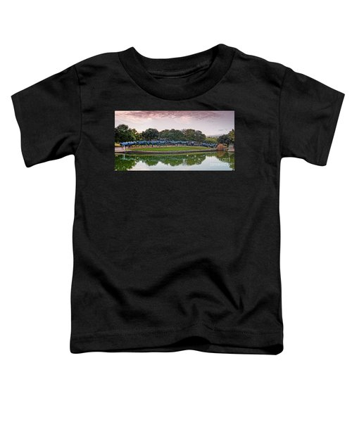 Sunrise Panorama Of Cattle Drive Sculpture At Pioneer Plaza - Downtown Dallas North Texas Toddler T-Shirt