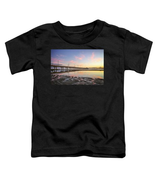 Sunrise Reflections At The Shorncliffe Pier Toddler T-Shirt