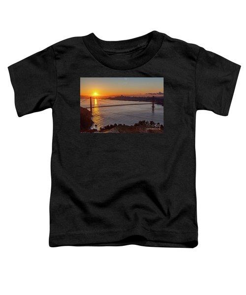 Sunrise Sunlight Hitting The Coastal Rock On The Shore Of The Go Toddler T-Shirt