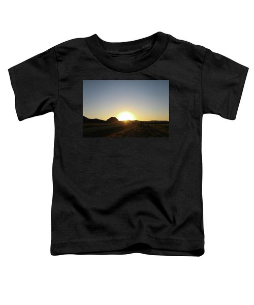 Sunset At Castle Butte Sk Toddler T-Shirt
