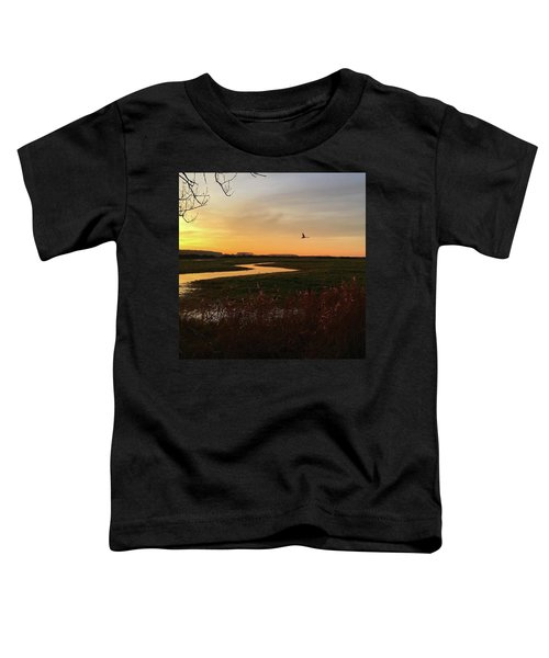 Sunset At Holkham Today  #landscape Toddler T-Shirt
