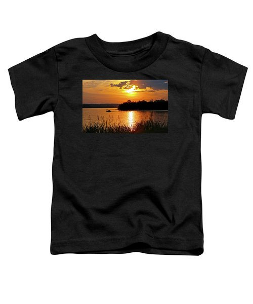 Sunset Boater, Smith Mountain Lake Toddler T-Shirt