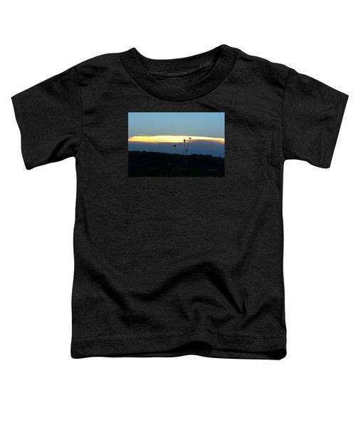 Sunset Gold Stripe Queen Anne Toddler T-Shirt