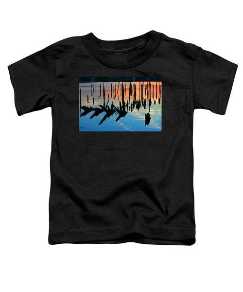 Sunset In Colonial Beach Virginia Toddler T-Shirt