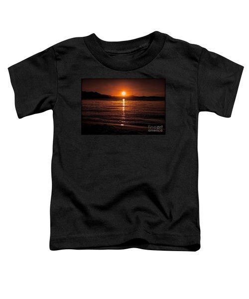 Sunset Lake 810pm Textured Toddler T-Shirt