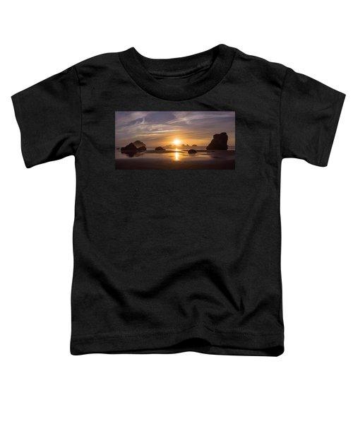 Sunset On Bandon Beach Toddler T-Shirt