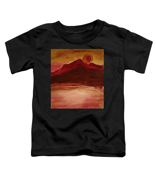 Sunset On Red Mountain Toddler T-Shirt