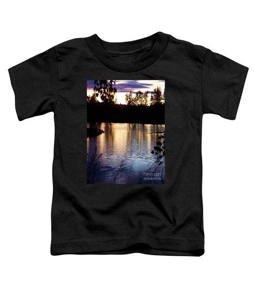 Sunset On River Toddler T-Shirt