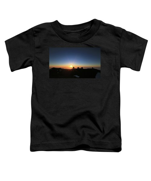 Sunset On The Mauna Kea Observatories Toddler T-Shirt