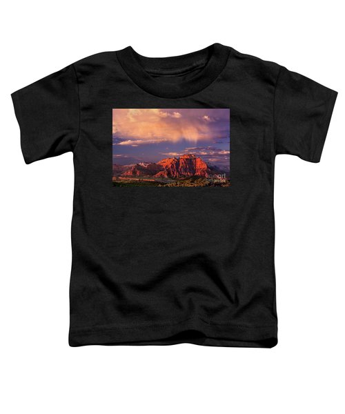 Sunset On West Temple Zion National Park Toddler T-Shirt