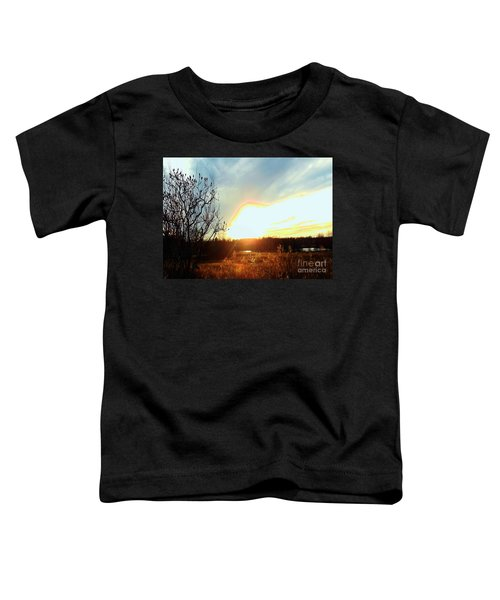Sunset Over Fields Toddler T-Shirt