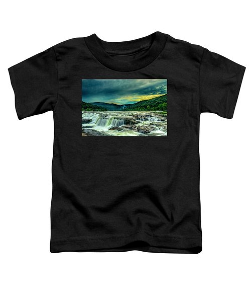 Toddler T-Shirt featuring the photograph Sunset Over Sandstone Falls by Donald Brown