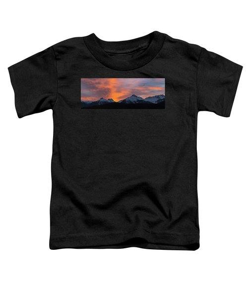 Sunset Over Tantalus Range Panorama Toddler T-Shirt
