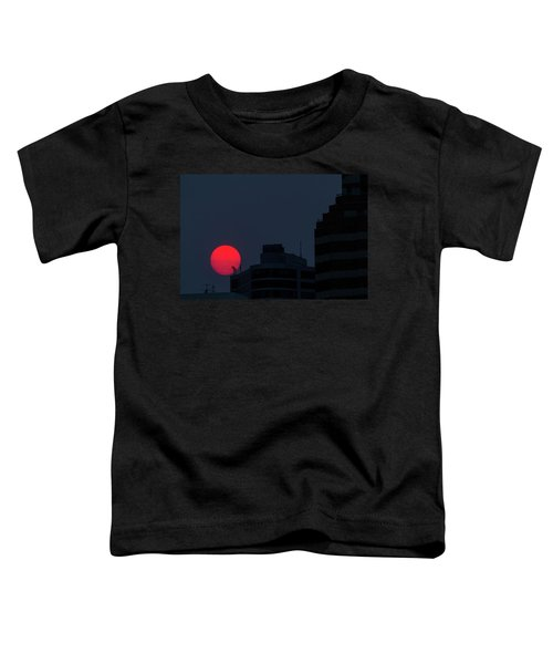 Sunset Over The City Of Portland Oregon Toddler T-Shirt