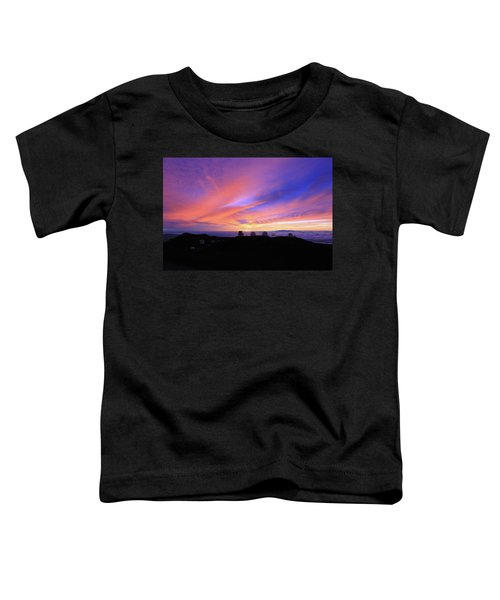 Sunset Over The Clouds Toddler T-Shirt