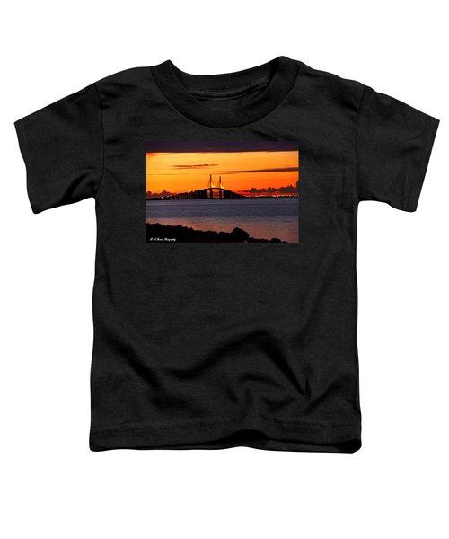 Sunset Over The Skyway Bridge Toddler T-Shirt