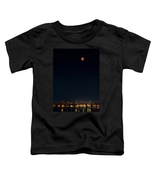 Super Blood Moon Over Ventura, California Pier Toddler T-Shirt