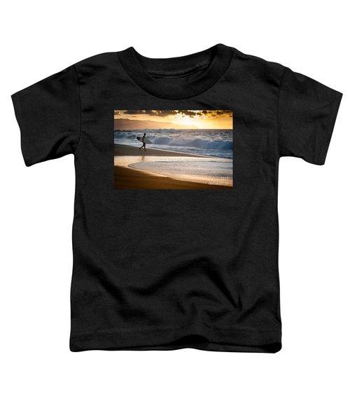Surfer On Beach Toddler T-Shirt