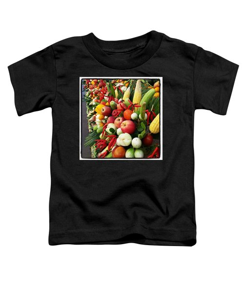 Toddler T-Shirt featuring the photograph Surin Elephant Buffet by Mr Photojimsf