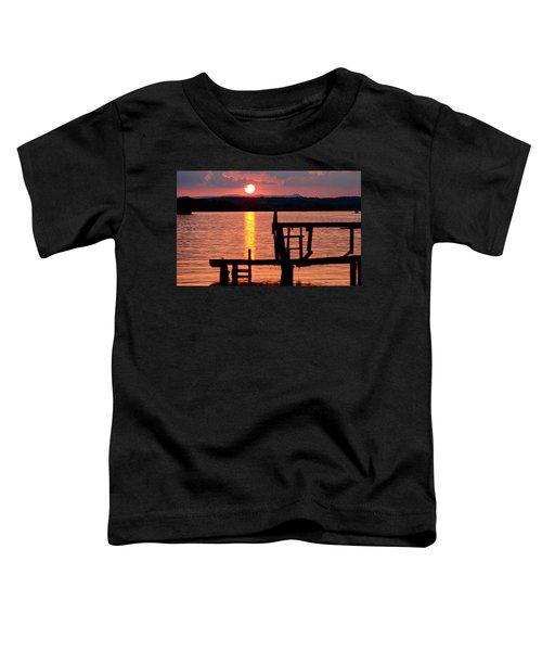 Surreal Smith Mountain Lake Dockside Sunset 2 Toddler T-Shirt