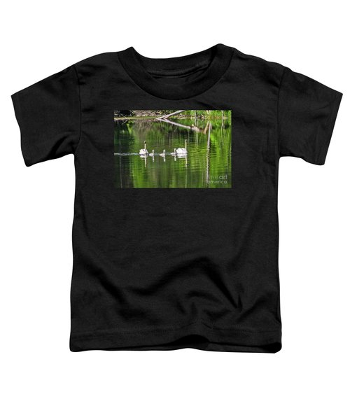 Swan Family With Triplets Toddler T-Shirt