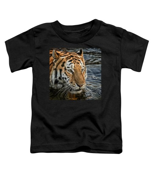 Swimming Tiger Toddler T-Shirt
