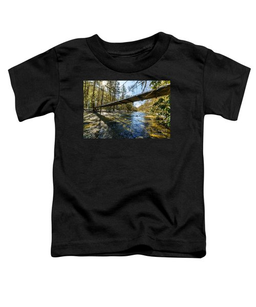 Swinging Bridge Back Fork Of Elk Toddler T-Shirt