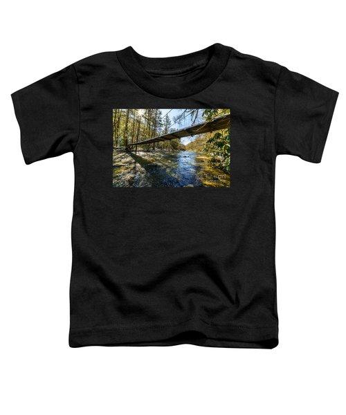 Swinging Bridge Back Fork Of Elk Toddler T-Shirt