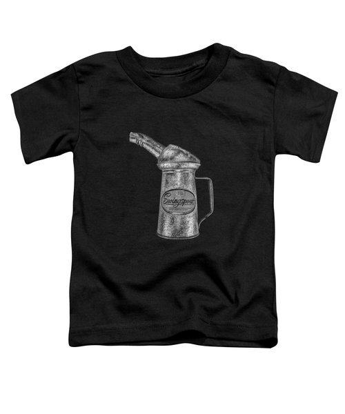Swingspout Oil Can Bw Toddler T-Shirt by YoPedro