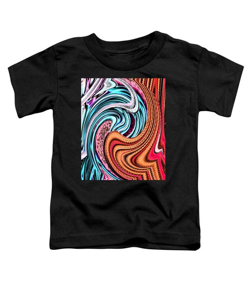 Swirly Abstract 7179a Toddler T-Shirt