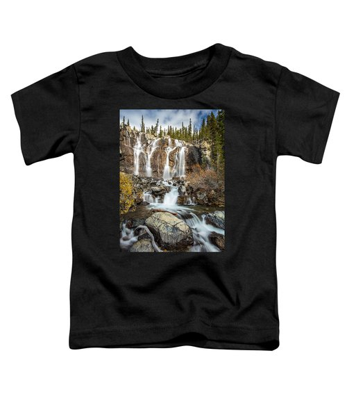 Tangle Waterfall On The Icefield Parkway Toddler T-Shirt