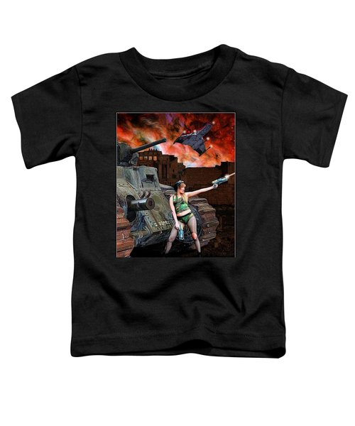 Tank Girl In Action Toddler T-Shirt