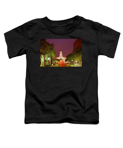 Tarrant County Courthouse At Twilight - Fort Worth North Texas Toddler T-Shirt