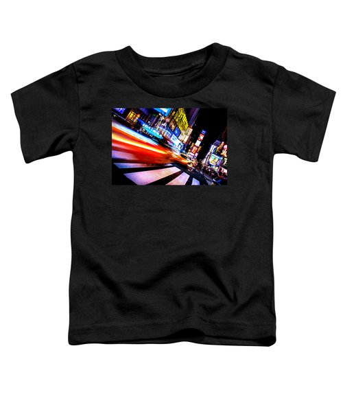 Taxis In Times Square Toddler T-Shirt by Az Jackson