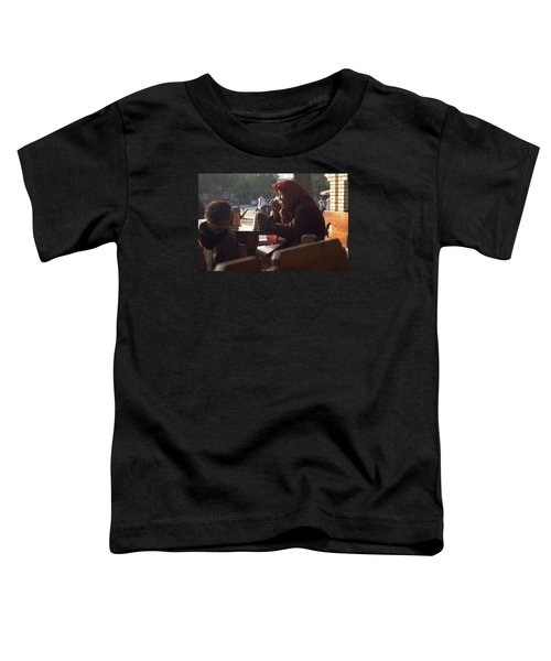 Toddler T-Shirt featuring the photograph Tea In Tashkent by Travel Pics