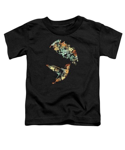 Floral Hummingbird Art Toddler T-Shirt