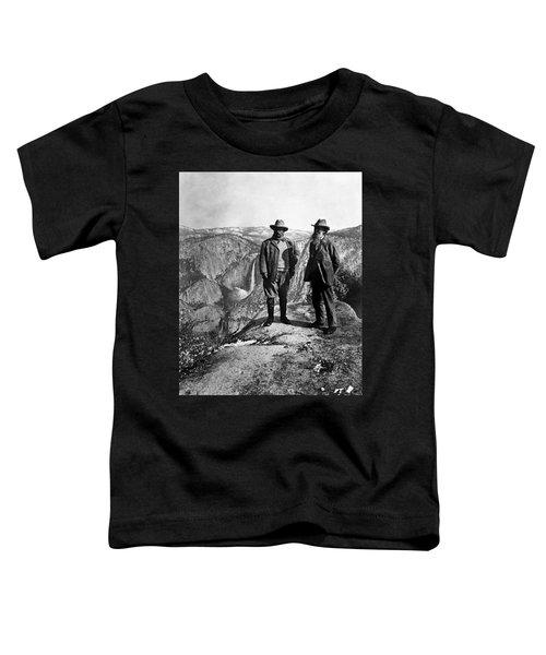 Teddy Roosevelt And John Muir - Glacier Point Yosemite Valley - 1903 Toddler T-Shirt