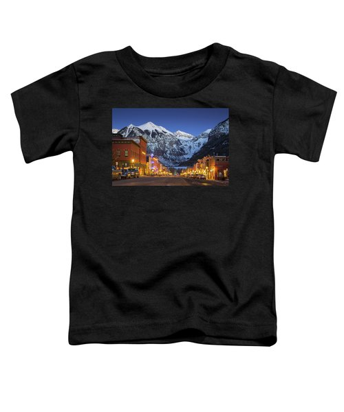 Toddler T-Shirt featuring the photograph Telluride Main Street 3 by Whit Richardson