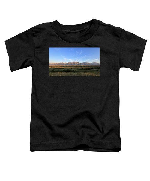 Teton Range After Sunrise Toddler T-Shirt