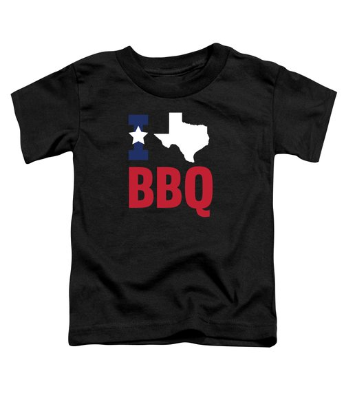 Texan Flag Barbecue Texas Gift Bbq Toddler T-Shirt