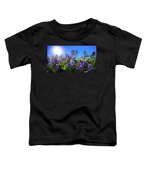 Texas Bluebonnets Backlit II Toddler T-Shirt